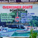 El Nido MB Overcomer boat schedule