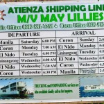 El Nido MV May Lillies boat schedule